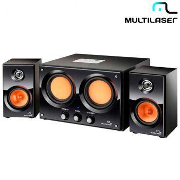 Caixa De Som 2.2 30w Rms Usb Sd Fm Bivolt Sp118 - Multilaser