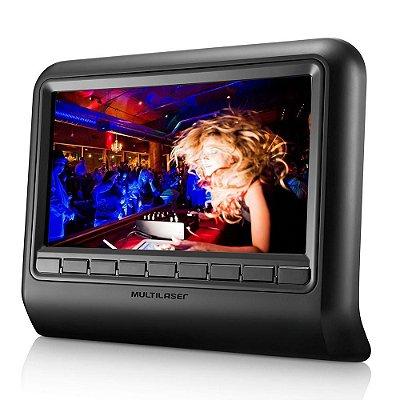 DVD Player Automotivo 9 Encosto Cabeça Au705 - Multilaser