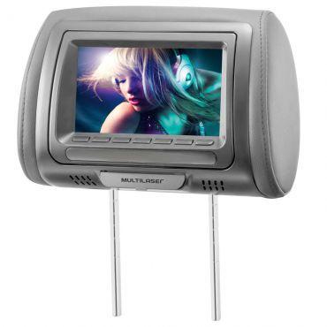 Tela LCD 7 Encosto Cabeça Banco Carro DVD AU707 - Multilaser
