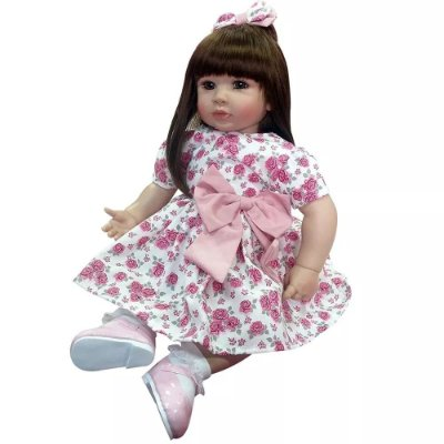 Boneca Sweet Camille Bebê Realista Menina SC0002 Laura Doll