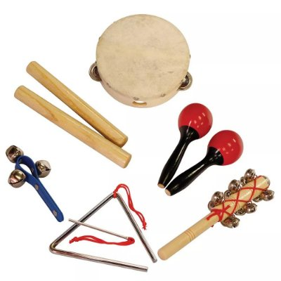Kit de Percussão Infantil Instrumento Musical LT6A Shiny Music