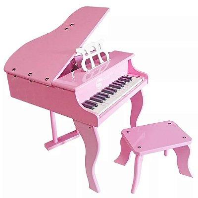 Piano Infantil Instrumento Musical Rosa FW30 Shiny Music