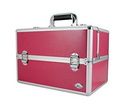 Maleta Profissional de Maquiagem Pink BSB17295 Jacki Design