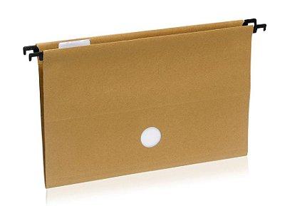 Pasta Arquivo Suspensa Kraft Completa 10 unidades 23,5x41cm Waleu