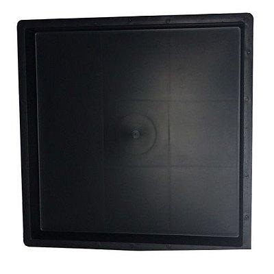 Kit com 10 Unidades Forma Quadrada Lisa Para Fabricar Piso 49x49x2,5 cm - FP098