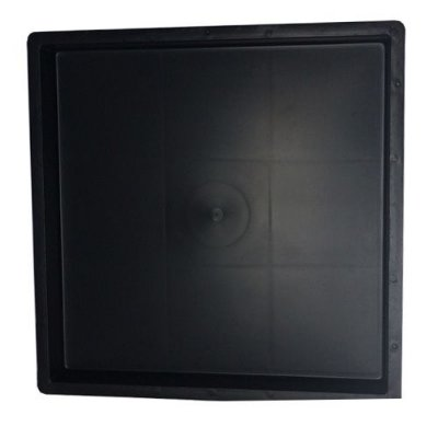 Kit com 10 Unidades Forma Quadrada Lisa Para Fabricar Piso 20x20x1,5 cm - FP099