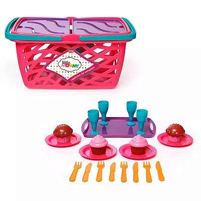 Acessórios de Boneca Little Mommy Cestinha de Compras Fun
