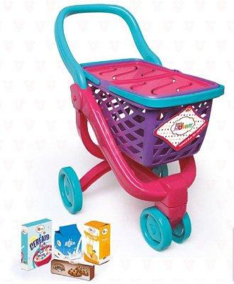 Carrinho de Compras Boneca Little Mommy com Acessórios Fun