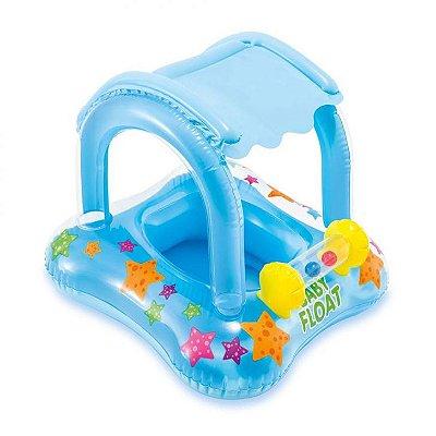 Boia Inflável Baby Bote Kiddie Com Cobertura Piscina - Intex
