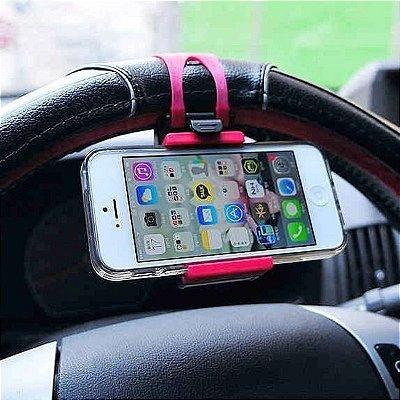 Suporte Veicular Volante Celular Carro Gps Smartphone Iphone