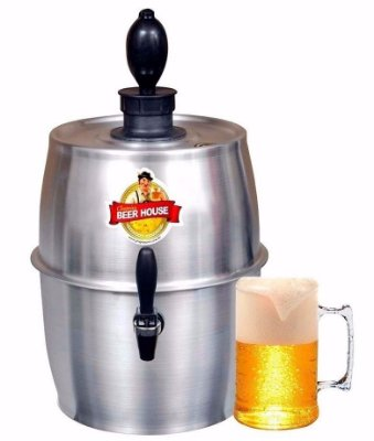 Chopeira Chopp Cerveja Beerhouse 5,6l Grande Barril 16 Latas