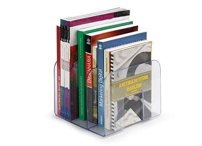 Organizador Separador De Livros Revistas DVD CD Suporte Acrílico