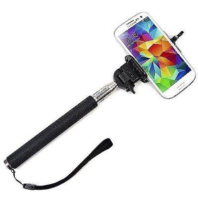 Pau de Selfie Bastão Monopod + Suporte Celular + Controle Remoto Bluetooth