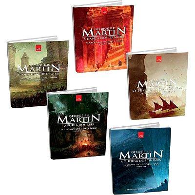 Kit As Crônicas De Gelo E Fogo - Game of Thrones (5 Livros)