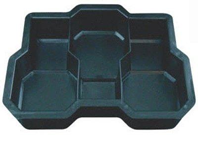 Forma Plástica p/ Piso Bloquete Raquetinha Tripla 19 x 11,5 x 6 - FP093