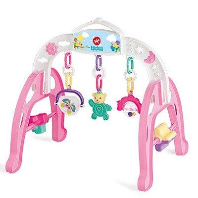 Centro de Atividades Brinquedo Educativo Infantil Mobile Baby Gym - Calesita Rosa