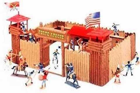 Forte Apache Super Batalha 34 Pç Brinquedos Antigos Bonecos Miniaturas Gulliver