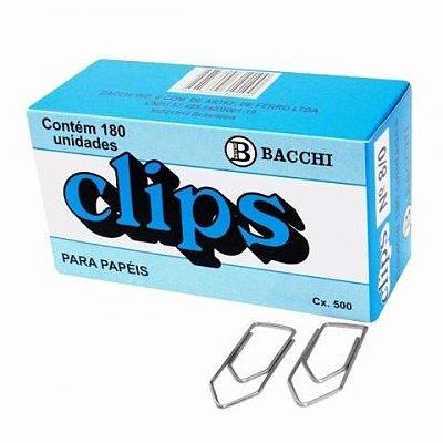 Clips para Papel Galvanizado 8/0 Caixa com 180 unidades - Bacchi
