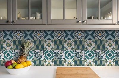 Papel de Parede Adesivo Azulejo Antalya 18 Peças 15x15cm