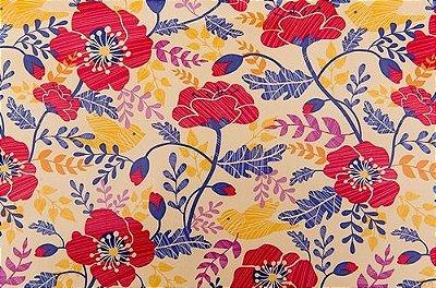 Papel De Parede Adesivo Contact Flores
