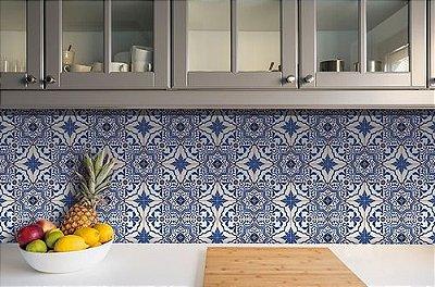 Papel de Parede Adesivo Azulejo Porto 18 Peças 15x15cm