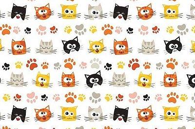 Papel de Parede Adesivo Pets Gatos
