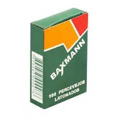 Tachas Percevejos Latonados Baxmann Caixa com 100 Unidades