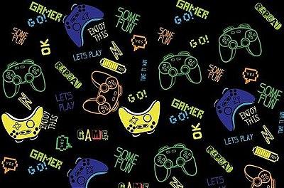 Papel De Parede Adesivo Preto Video Game Teen Menino