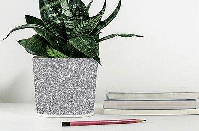 Papel De Parede Adesivo Glitter Brilhante Prata