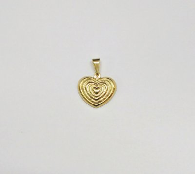 Pingente Folheado Dourado Banhado Ouro Coração