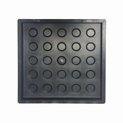 Kit Forma Piso Tátil 33x33x2,5 Alerta Direcional Bola Fp080 - 10 Peças