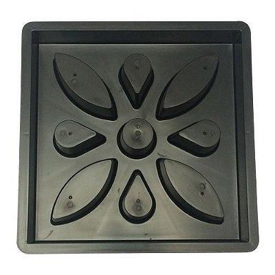 Kit Forma Plástica Elemento Vazado Flor 39x39x07 - FP139 - 10 Peças
