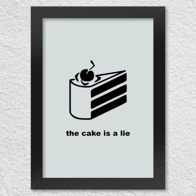 Poster com Moldura - Gamer Portal The Cake Is a Lie