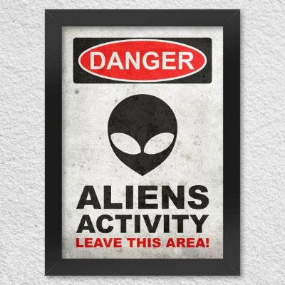 Poster com Moldura - Danger Aliens Activity