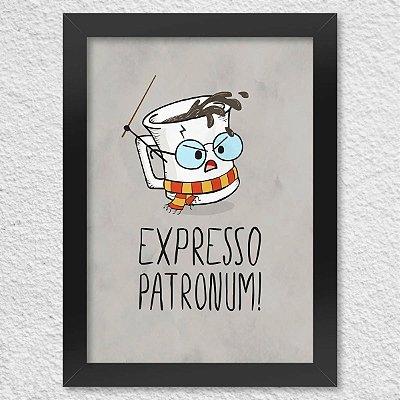 Poster com Moldura - Expresso Patronum