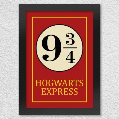 Poster com Moldura - Hogwarts Express