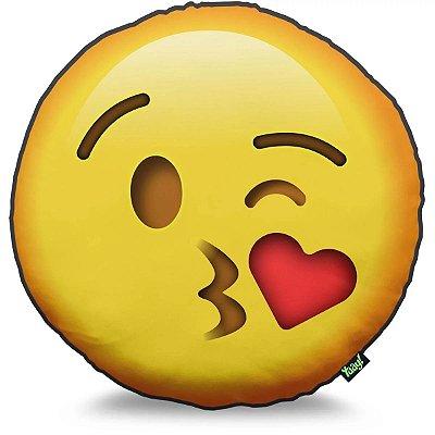 Almofada Emoticon - Beijinho com Amor