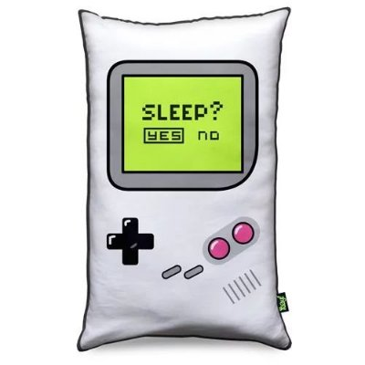 Almofada Gamer Boy - Sleep Yes or No - Fundo Preto