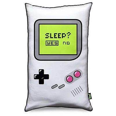 Almofada Gamer Boy - Sleep Yes or No - Fundo Preto