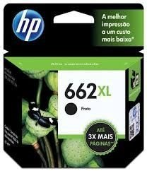 Cartucho de Tinta HP 662 XL / 662 / PRETO - CZ105A - 662XL - DESKJET ADVANTAGE 2515/2516/3515/3516 - ORIGINAL HP