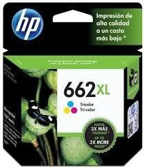 Cartucho de tinta HP 662 XL TRICOLOR - CZ105A - 662XL - Deskjet Advantage 2515 / 2516 / 3515 / 3516 ORIGINAL HP ´COLORIDO