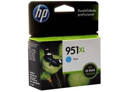CARTUCHO HP 951XL / 951 XL JATO DE TINTA CYAN 17ML - CN048AB ORIGINAL HP  Impressora HP Officejet Pro 251dw (CV136A), Multifuncional HP Officejet Pro 276dw , HP Officejet Pro 8100 ePrinter N811a , Officejet Pro 8600 / 8610 / 8620