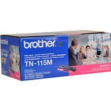 Toner Brother ORIGINAL BROTHER TN 115 M 115 TN115M MFC 9440 CN / DCP 9040 CN / DCP 9045 CDN / HL 4040 CN / HL 4070 CDW, Toner MAGENTA com rendimento de 4.000 páginas à 5% de cobertura