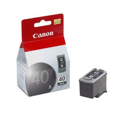 Cartucho de tinta PG 40 preto para iP 1200, iP 1300, iP 1600, iP 1700, iP 2200, MP 150, MP 160, MP 170, MP 180, MP 450 e MP 460.