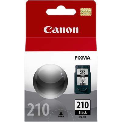 Cartucho jato de tinta PG-210 preto 09ml rendimento padrão para impressoras Canon PIXMA Series MP240, MP260 e MP480.