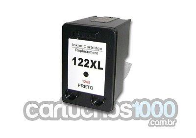 Cartucho de Tinta  HP 122XL 122  XL CH563HB  563/ 1000 2000 2050 3050 / Compatível/ Preto