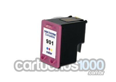 Cartucho de Tinta HP 901XL TRICOLOR 901 CC656AB 656/ J 4580  4680  4660  4500  4550/ Compatível / Colorido