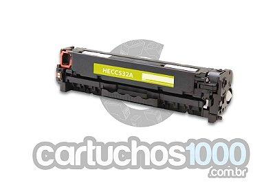 Toner HP CC 532 A  532 A  304 A 532 / CP 2020 CP 2025 CM 2320 CM 2320NF / Amarelo / Compatível