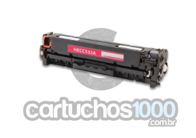 Toner HP CC 533 A 533 A HP 304 A  533 / CP 2020 CP 2025   CP 2025DN CM 2320 / Magenta / Compatível
