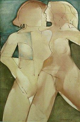 Mulheres de Atenas - José Carlos Viana (PE) - Acrílica s/Aglomerado - 090x060 - Ass.cid1980